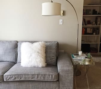 Hi! Our apartment comfortably accommodates 2 people. It is minutes away from Downtown Seattle, the International District and Capitol Hill. There is also ample parking outside our place if you decide to rent a car.