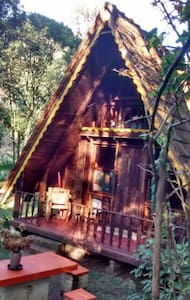 Wooden chalet in our rural property