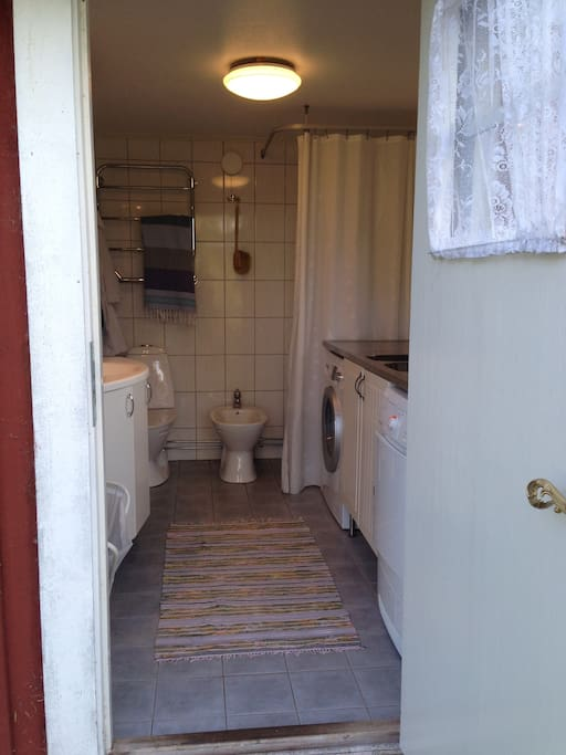 Rest room and laundry.
