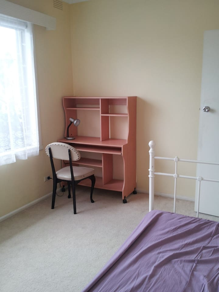 Spacious and bright room with spacious inbuilt wardrobe