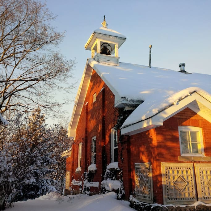 Beautiful Sunset at the School House with Original Bell Tower