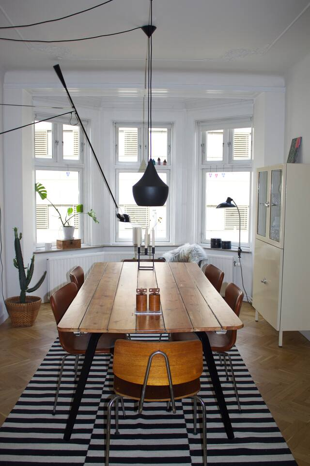 Dining room with a table that seats 10 people!