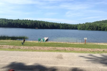 Lovely Adams lake take a step back! - Bridgton - Cabin