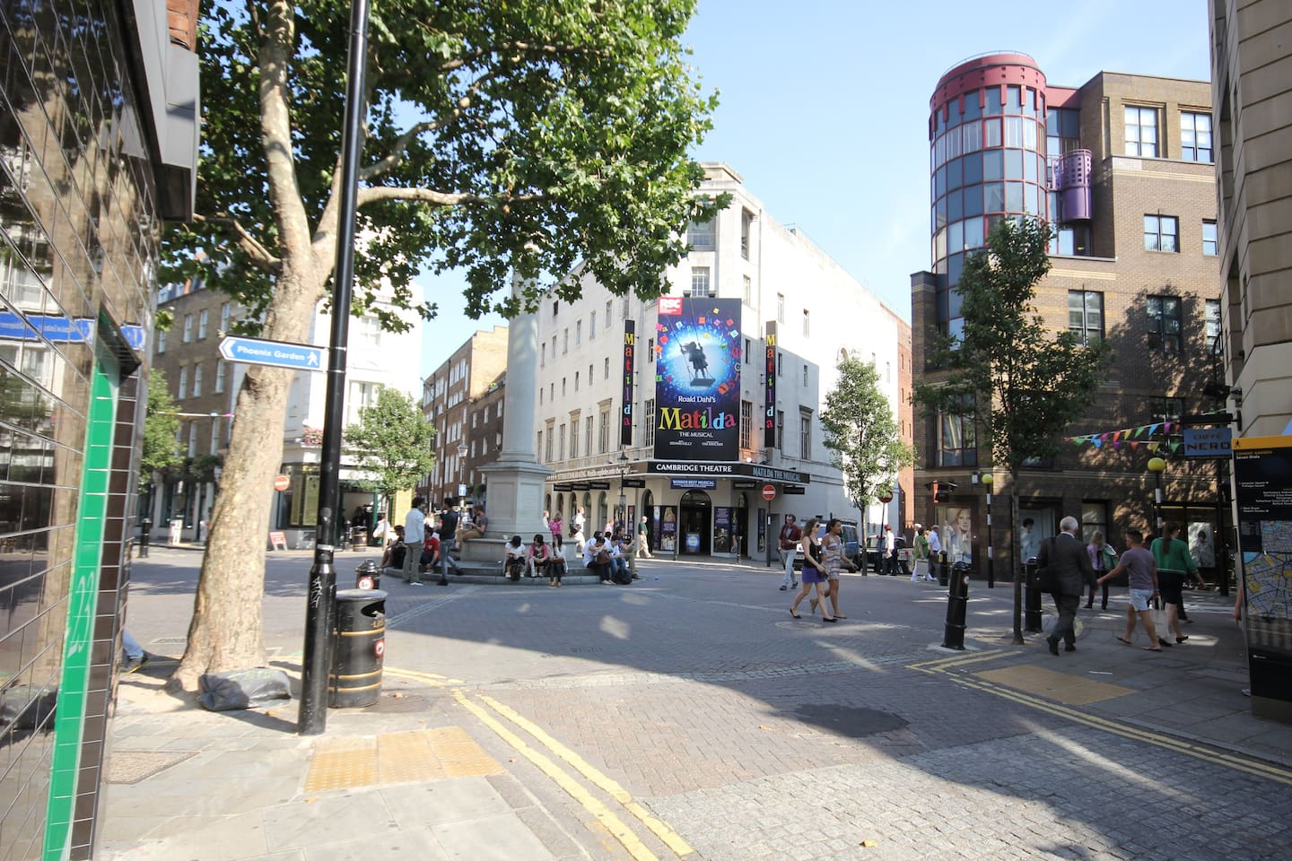 Seven Dials, the cute and quirky village neighbourhood right in the heart of the West End between Covent Garden and Soho.