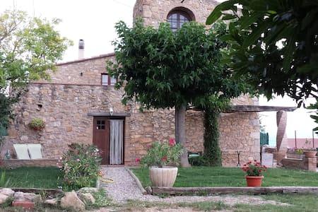 Casa rústica, jardín y vistas (Can Damus) - terrades - Dom
