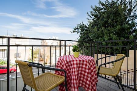 Beautiful Studio Apt +Sunny Balcony - Haifa - Pis