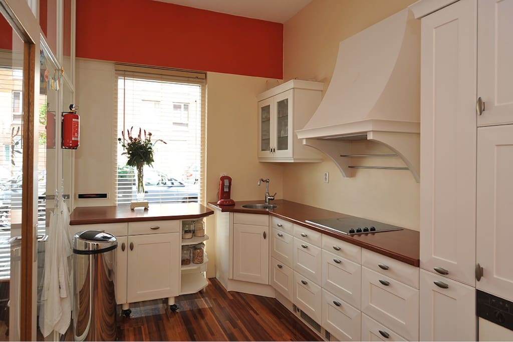 The kitchen, with dishwasher
