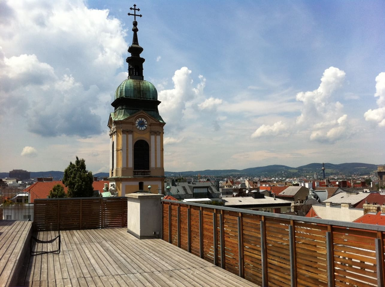 view from the flat roof / church