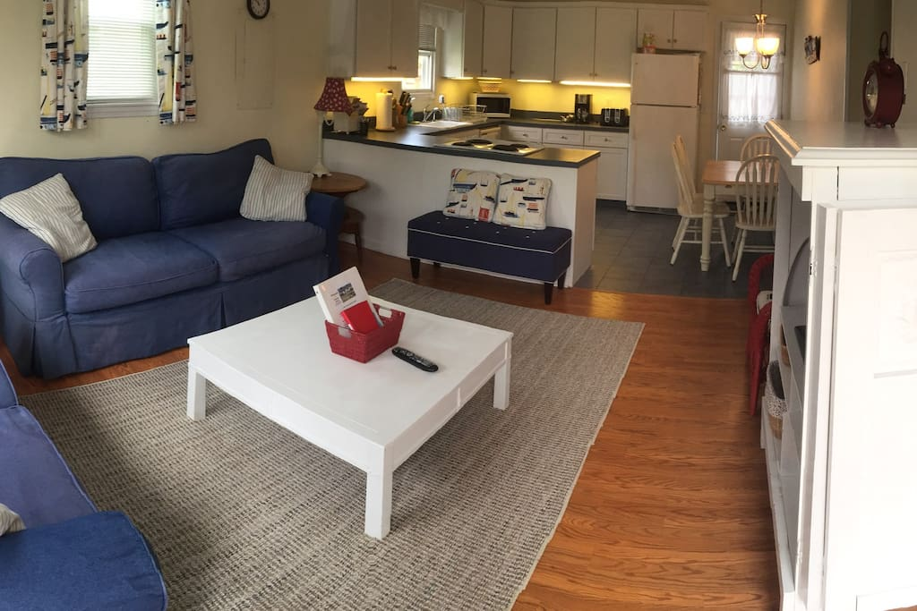 New area rugs in family room and bedrooms