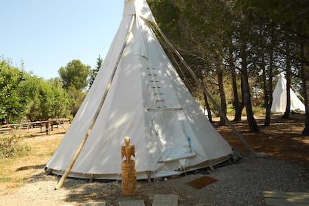 Room type: Entire home/apt Property type: Tipi Accommodates: 5 Bedrooms: 1 Bathrooms: 1