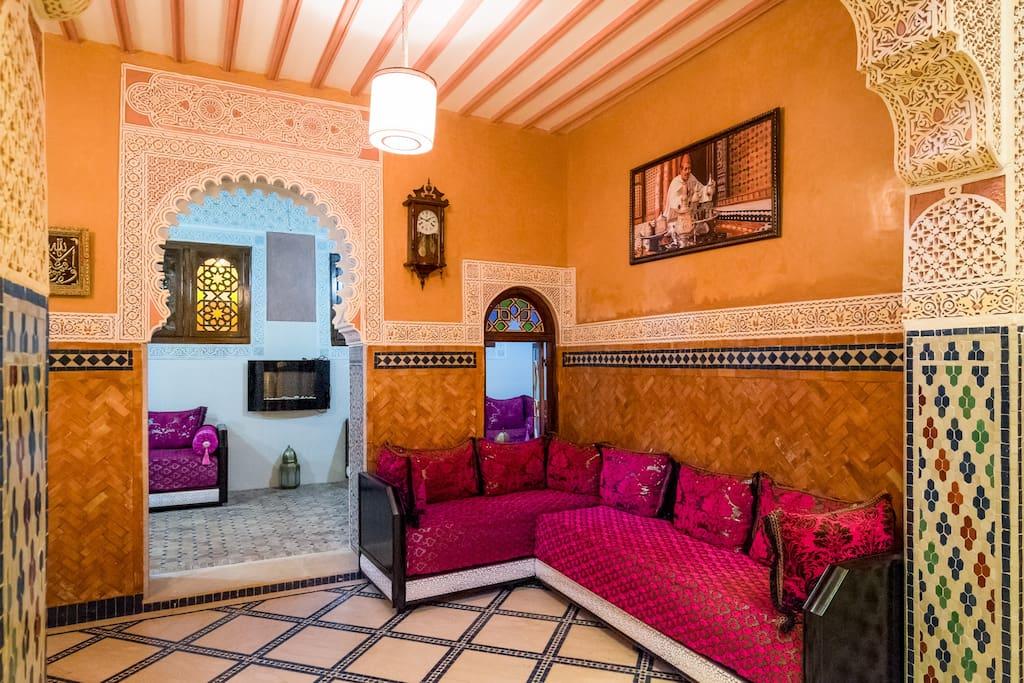 chambre de 2 lits dans la medina