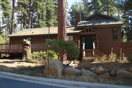 This 2,500+ square foot Tahoe Vista property is the perfect retreat home for you, your family and friends! Home has a large, wrap-around deck with patio furniture and charcoal Weber grill.