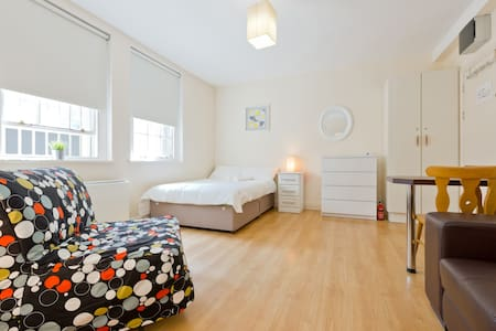 Studio 9 is a roomy, clean and basic ground floor studio, with one comfy double bed and one single sofabed, kitchenette, and separate bathroom. 5 mins walk to O'Connell Street, aircoach, Croke Park nearby too. Top choice for budget travellers.