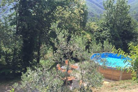Grande maison cévenol avec piscine - House