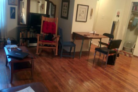 Cozy and warm bedroom in a 2BR beautiful apartment in the great Winsdor terrace neighborhood (right near Park Slope) :3 minutes walk from Prospect park, 3 minutes walk to the subway and 17 minutes to get to lower Manhattan. 2 Amazing cats:)