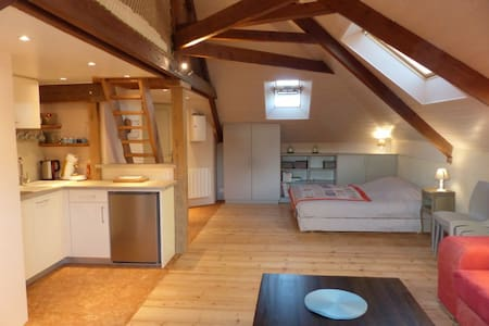 Ecofriendly loft 900m to the beach - Agon-Coutainville - Apartament