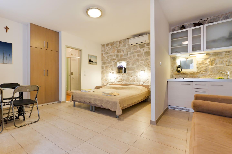 studio apartment in center of split split airbnb cool office design train tracks