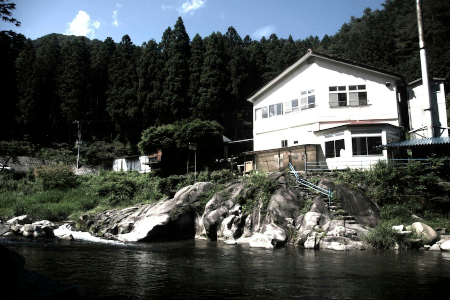 as seen from the swimming area