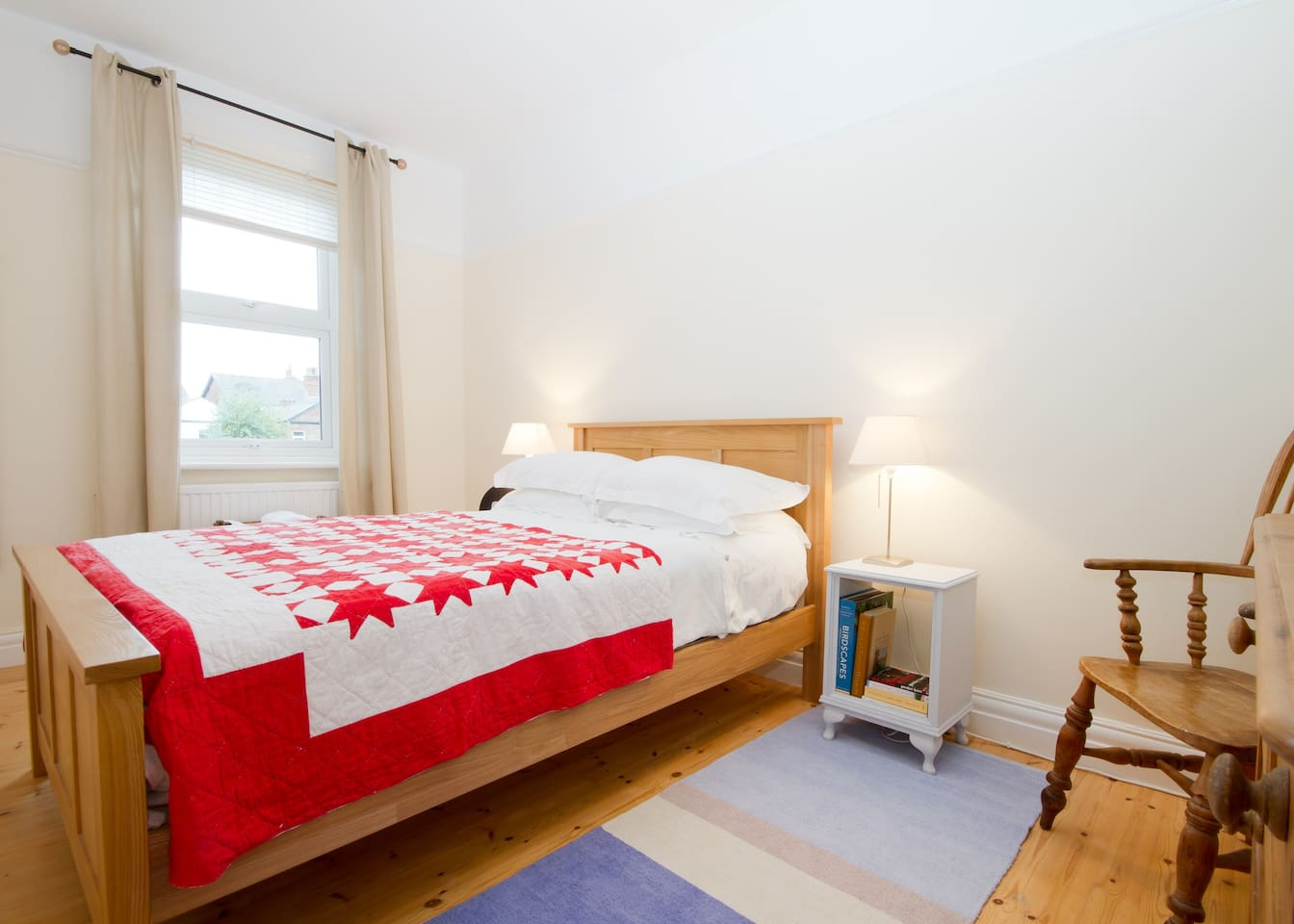 Double room, very quiet and overlooks the back garden. Delicious breakfast included.
