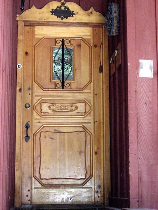 hand made entrance door in the local style