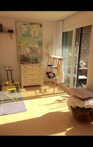 Hyggelig et-værelse med stor altan - Appartement