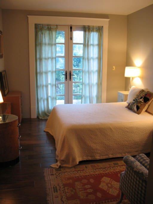 Bedroom opens to Patio