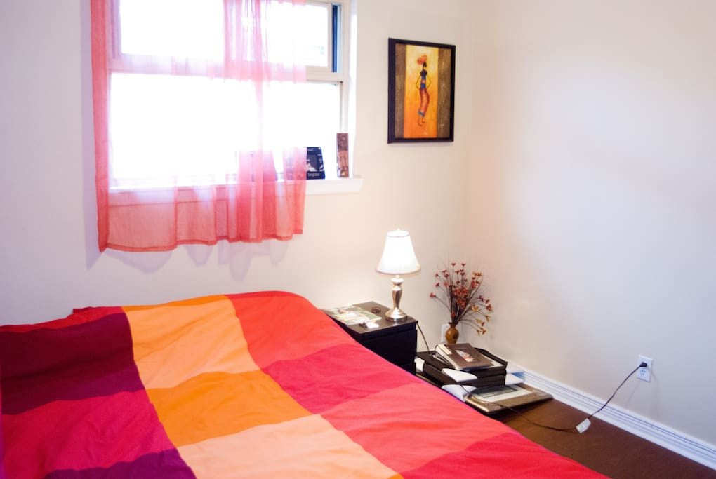 Your room - with a queen bed