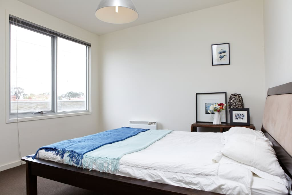 Your room with 1000 thread count sheets, views of the stunning Melbourne city skyline and a comfy bed