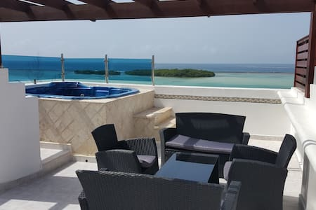 This beautiful two story Penthouse is perfect for anyone looking for a fully furnished, comfortable condominium with large outdoor spaces.