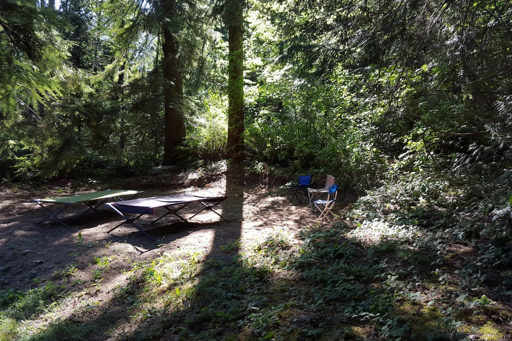 A place to rest, read book, visit with fellow campers
