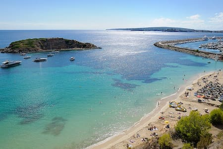 BEACH APARTMENT SEA VIEW IN PORTALS NOUS WIFI TV SAT BEACH 20 METERS AWAY FROM THE APARTMENT JUST RENEWED 2015 ALL SERVICES IN A WALKING DISTANCE