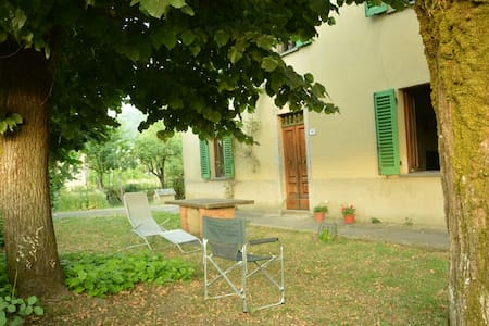 My house is in Firenzuola, a small medieval village in Florence countryside, and it is surrounded by fields. It accommodates 4-6 people, has a large entrance, a kitchen with fireplace (wood included!), 2 bedrooms and bathroom