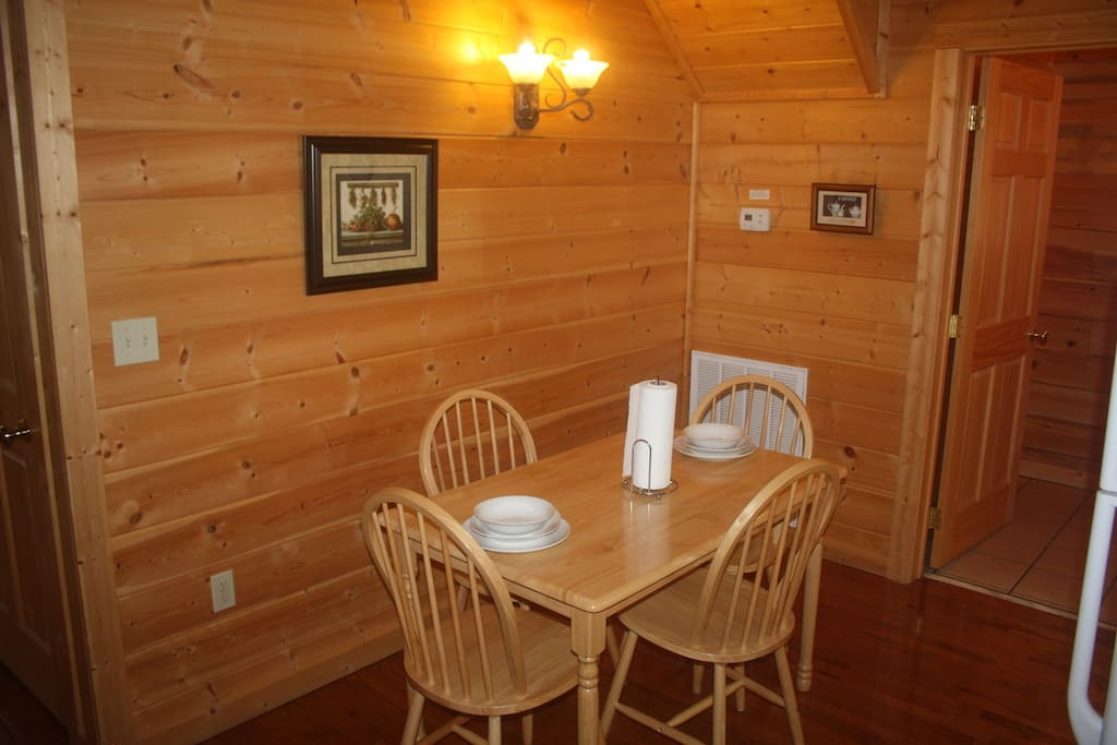 Convenient seating for four in kitchen area