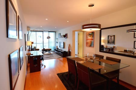 New and modern apartment with air conditioning totally furnished and equipped located in Miraflores.