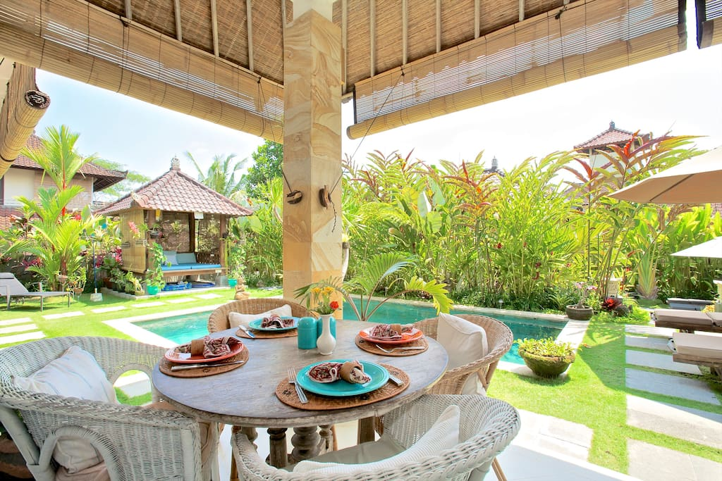 Sit on the Veranda and have Breakfast by the Pool