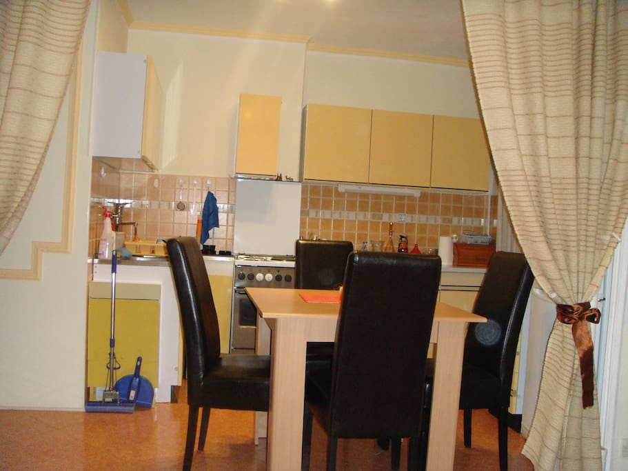 kitchen with dining room