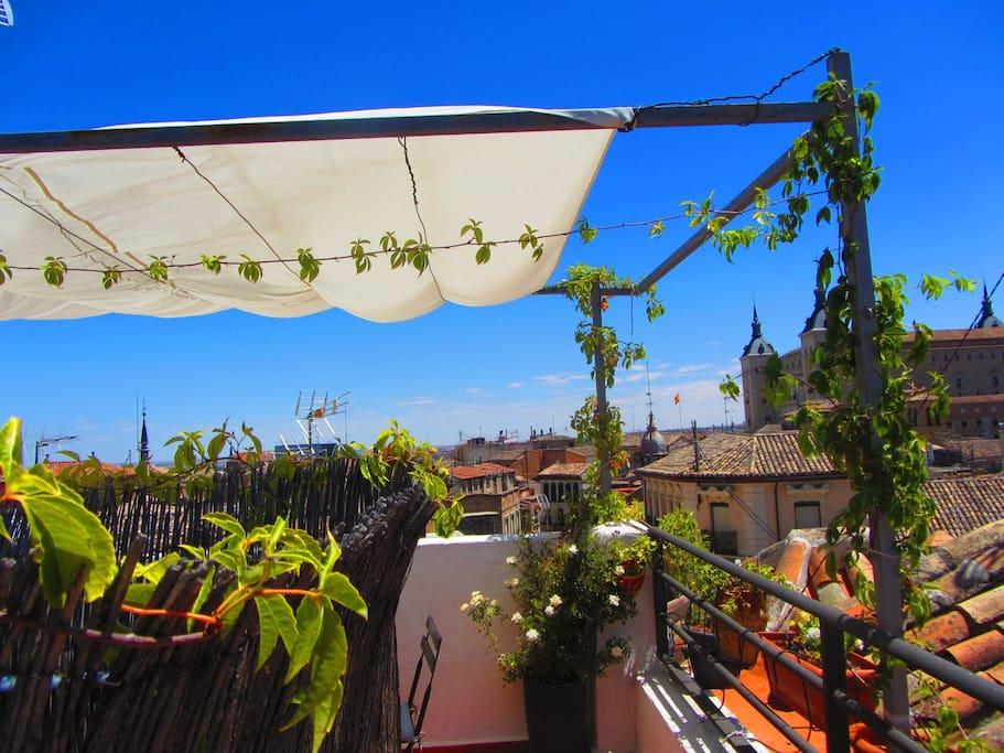 vistas desde la terraza privada,un lugar para la calma