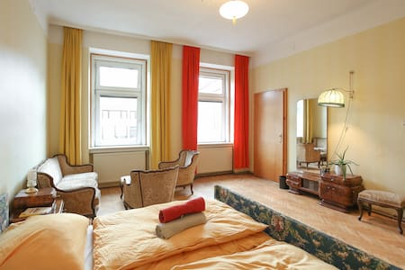Unique guest room with an original flair of the 50s. The apartment is 500m away from Westbahnhof, surrounded by hostels, bars and public transportations, walking distance to the sights, shopping areas and hip places like the Museumsquarter