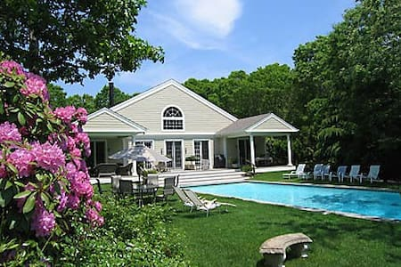 Large Hamptons home w/tennis, pool. - Water Mill - Casa