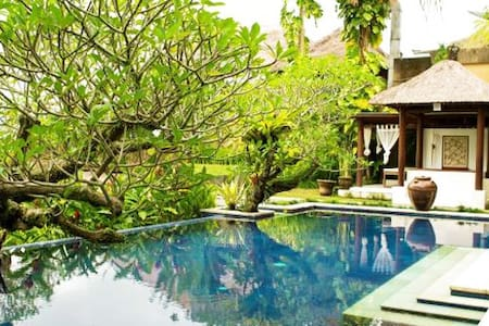What an AMAZING place to stay! Surrounded by greenery and Elegantly decorated, this villa offers a relaxing getaway in Ubud, a 15-20 minutes walking distance from/to Ubud center, Art Market, Art Galleries, Bali Museums, and also Restaurants.