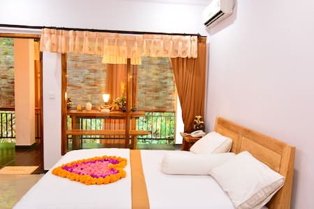 Located at Ubud area, with the quiet place side of the clear water river, swimming pool is side of the river. we have parking area, wifi, and nice room, and also accommodation will include Breakfast, nice for the relaxation.