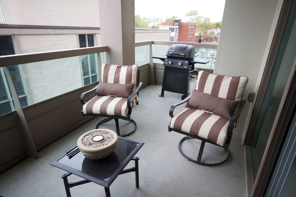Balcony seating for 4 and BBQ