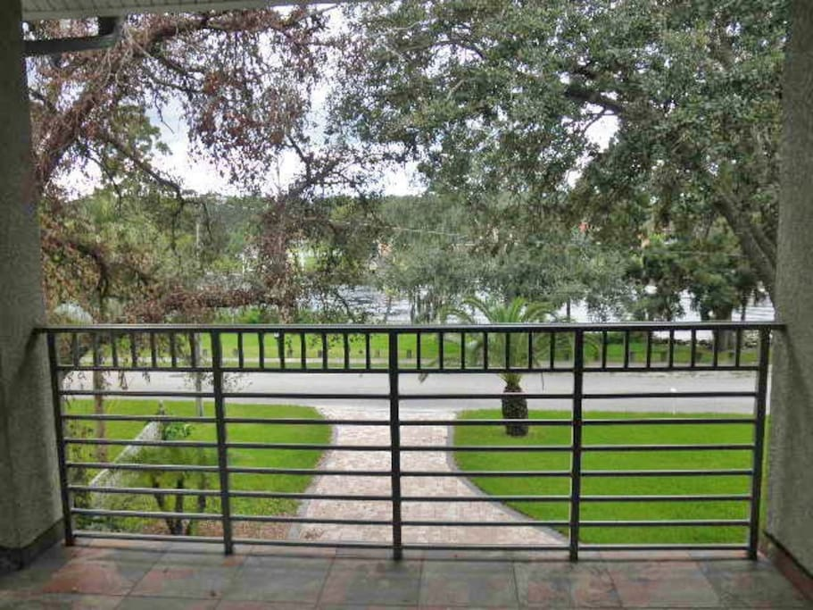 View from the balcony of the park and the river