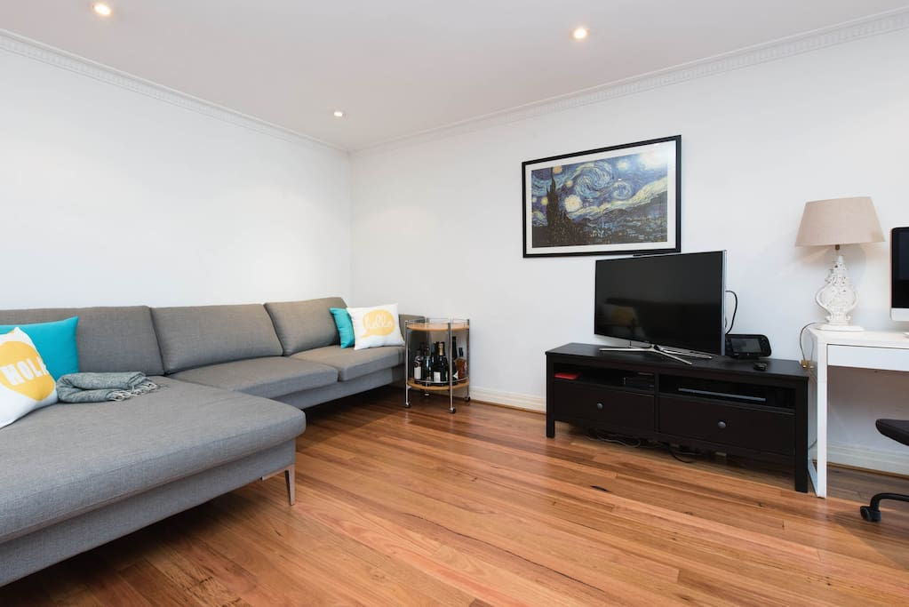 Living room and digital television