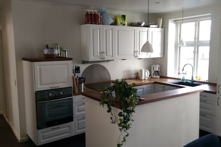 Spacious newly refurbished apartment just outside the city center on the main street in Valby. Very close to Valby station with train to Central station (5 min). Very close to a shopping center and various restaurents.  Very close to the Zoo and park