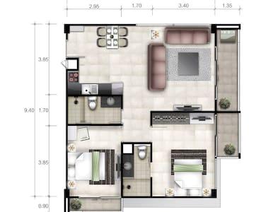 Appartement de rêve 85m2 sur plage - Ban Krut - Apartment