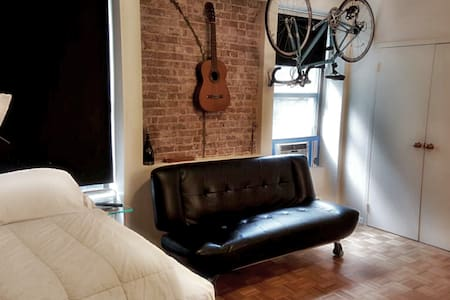MY STUDIO is perfect to stay and relax after you walk the city or just to stay in all day, Big screen TV. This is one of the best places that you will find near all attractions, Near stores, restaurants, hotels, museums and all NYC attractions.