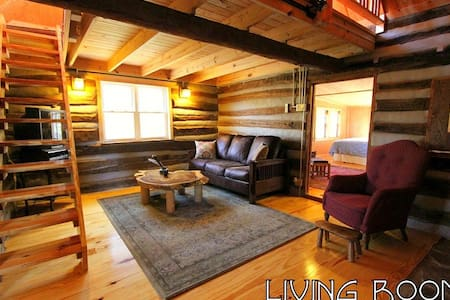 BLACK WOLF CABINS,Antique Log Cabin - Cabana