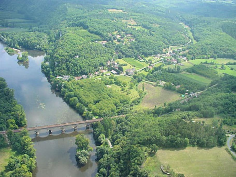 Mareuil from the air