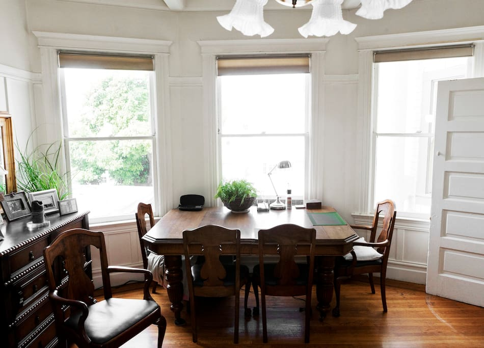 View of the dining area.